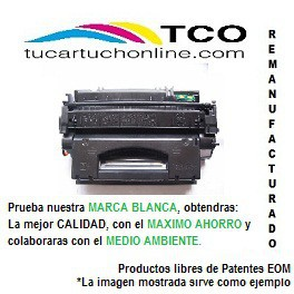 EP 716 BK  - TONER COMPATIBLE DE ALTA CALIDAD. REMANUFACTURADO EN E.U -Negro - Nº copias 2200